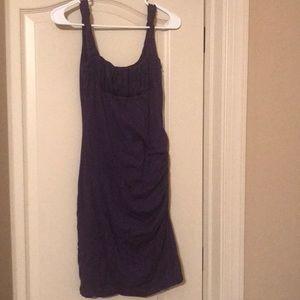 Velvet Graham & Spencer Plum Dress Ruched Sz Small